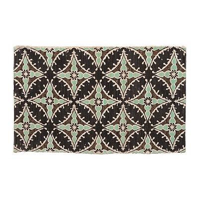 Chatham Aqua and Chocolate Scatter Rug