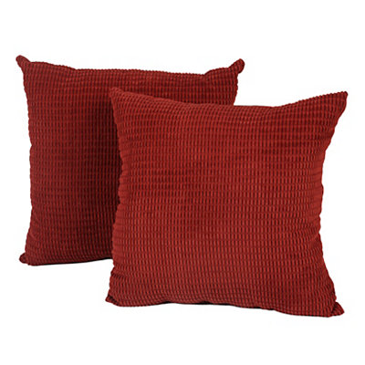Red Logan Pillows, Set of 2