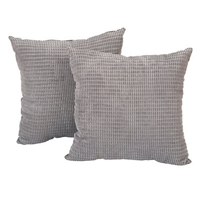Gray Logan Pillows, Set of 2