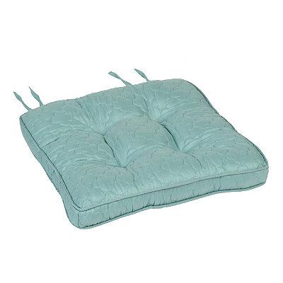 Blue Quatrefoil Chair Pad