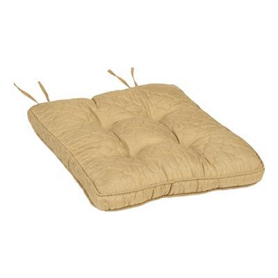 Tan Quatrefoil Chair Pad