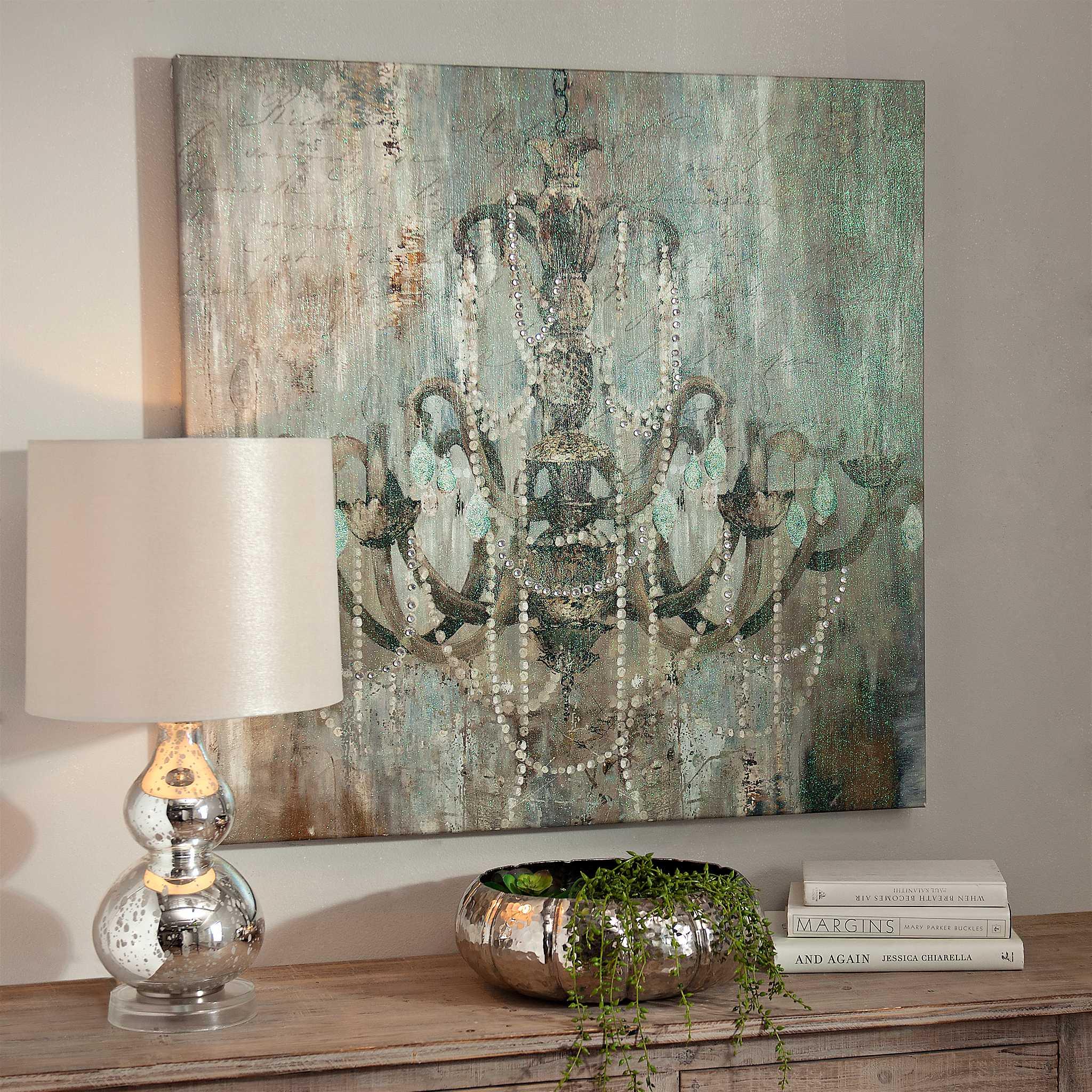 Wall Sconces Kirklands: Jeweled Chandelier Canvas Art Print