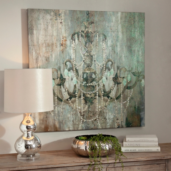 ... Jeweled Chandelier Canvas Art Print ...