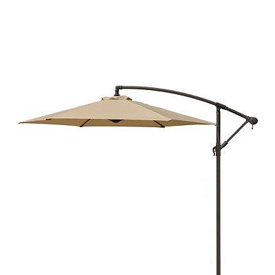 Tan Offset Patio Umbrella