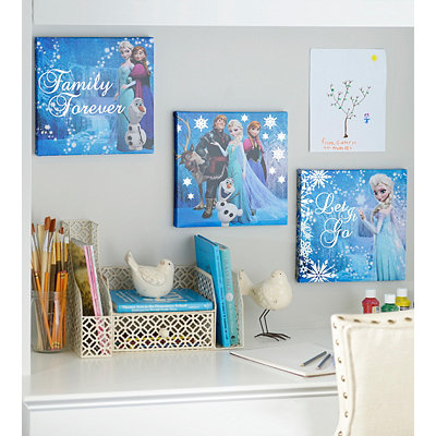 Family Forever Frozen Canvas Art Prints, Set of 3