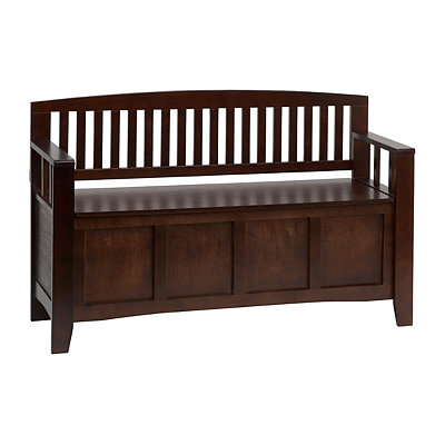 Cynthia Dark Walnut Storage Bench