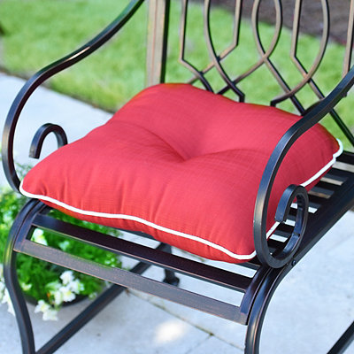 Solid Red Outdoor Cushion