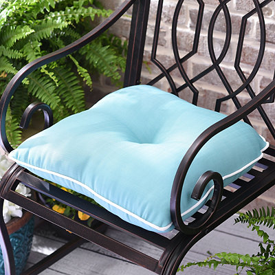 Solid Aqua Outdoor Cushion