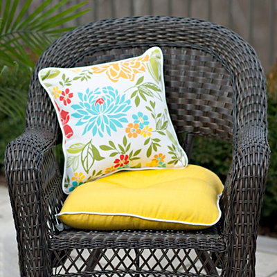 Solid Yellow Outdoor Cushion