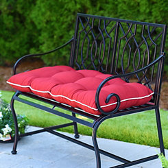 Solid Red Outdoor Settee Cushion