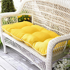 Solid Yellow Outdoor Settee Cushion