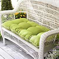 Solid Green Outdoor Settee Cushion
