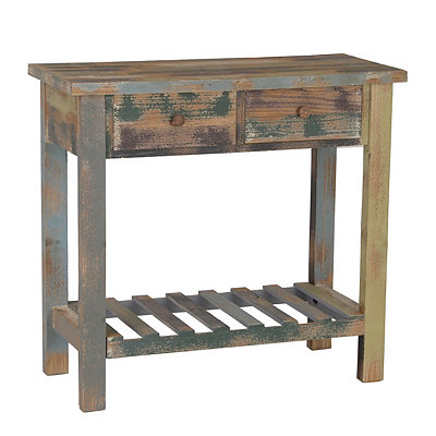 Distressed Coastal Console Table