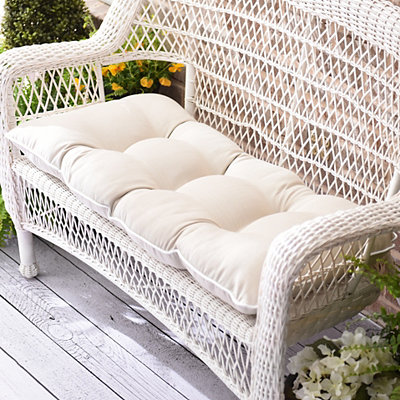 Solid Taupe Outdoor Settee Cushion