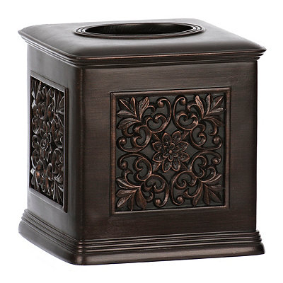 Bronze Stamped Tissue Holder