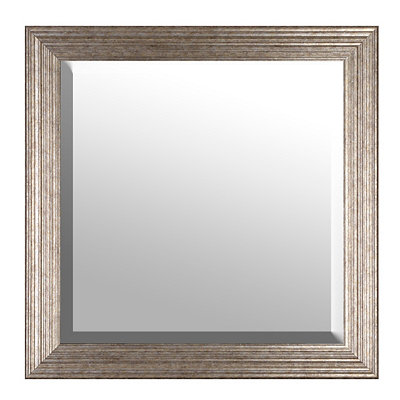 Antique Silver Framed Mirror, 30x30