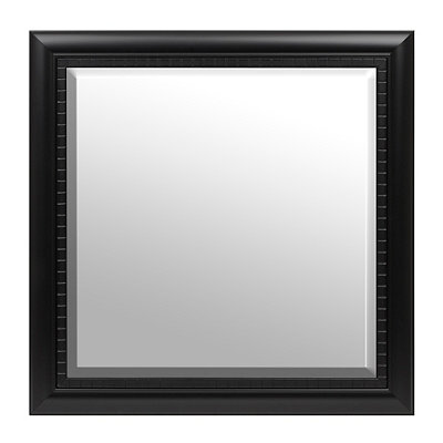 Black Squares Framed Mirror, 30x30