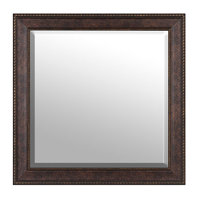 Matte Bronze Framed Mirror, 30x30
