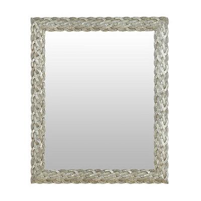 Silver Braided Framed Mirror, 27.5x33.5