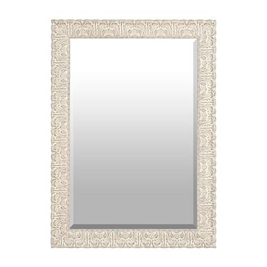 ornate ivory framed mirror 31x43 in