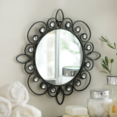 Metallic Jeweled Wall Mirrors