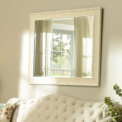 Dockside White Framed Mirror, 37x47 in.