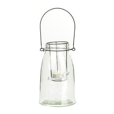 Small Clear Glass Lantern