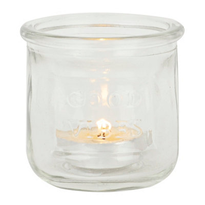 Clear Glass Mason Jar Votive Holder