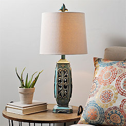 Tempest Turquoise Table Lamp