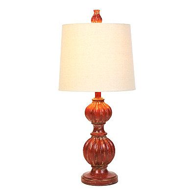 Vintage Red Curves Table Lamp