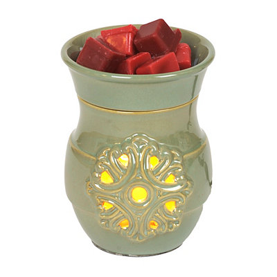 Green Medallion Wax Warmer