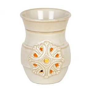 Cream Medallion Wax Warmer