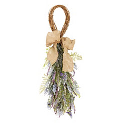 Lavender Burlap Teardrop Wreath