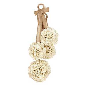 Cream Hydrangea Door Swag
