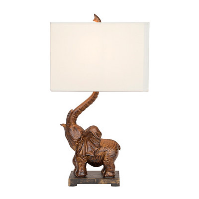 Brown Elephant Table Lamp