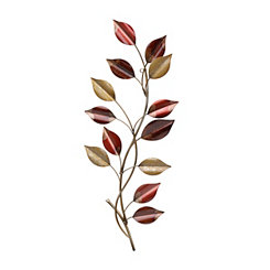Red & Gold Vine Metal Plaque