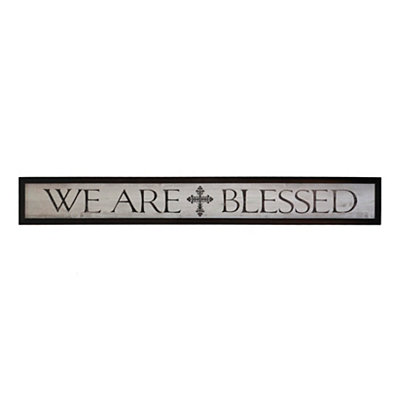 We Are Blessed Framed Art Print