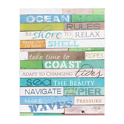Ocean Rules Wooden Pallet Sign