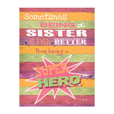Superhero Sister Canvas Plaque