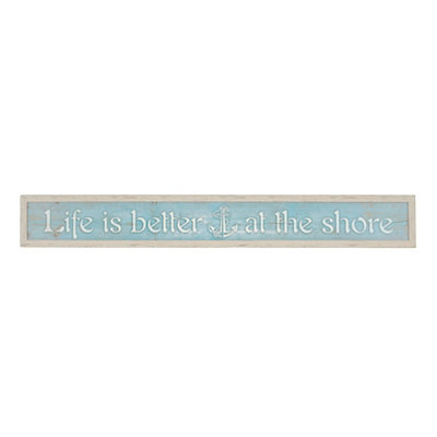 Life Is Better At The Shore Framed Art Print
