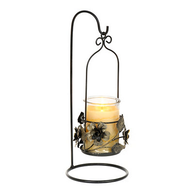 Floral Hanging Jar Candle Holder