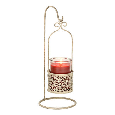 Cream Scroll Hanging Jar Candle Holder
