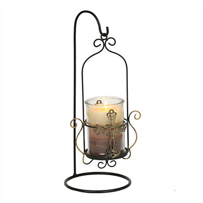 Cross Hanging Jar Candle Holder