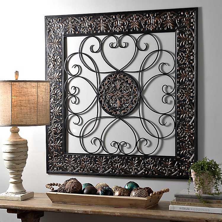 Metal Wall Decor Clearance : Bronze embossed medallion metal wall plaque kirklands