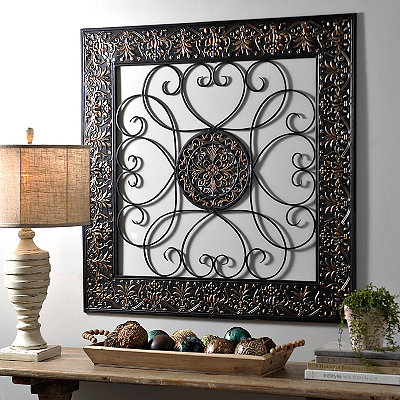 Bronze Embossed Medallion Metal Wall Plaque