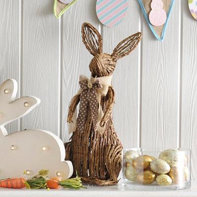 Grapevine Bunny Statue