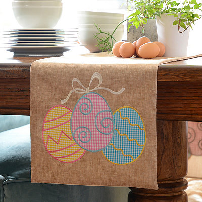 Easter Egg Burlap Table Runner