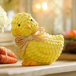 Faux Wicker Spring Chick