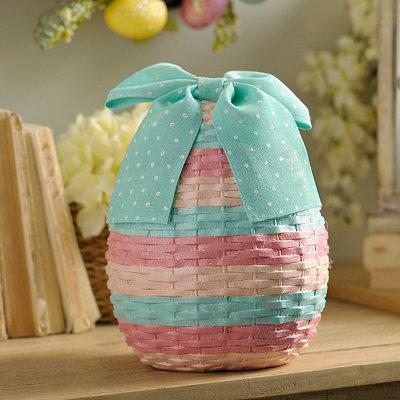 Faux Wicker Easter Egg