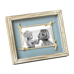 White Knotted Rope Picture Frame, 4x6